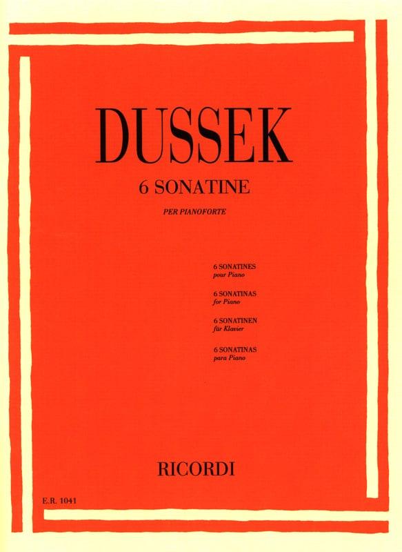 6 Sonatines Op. 20 - Jan Ladislav Dussek - laflutedepan.com