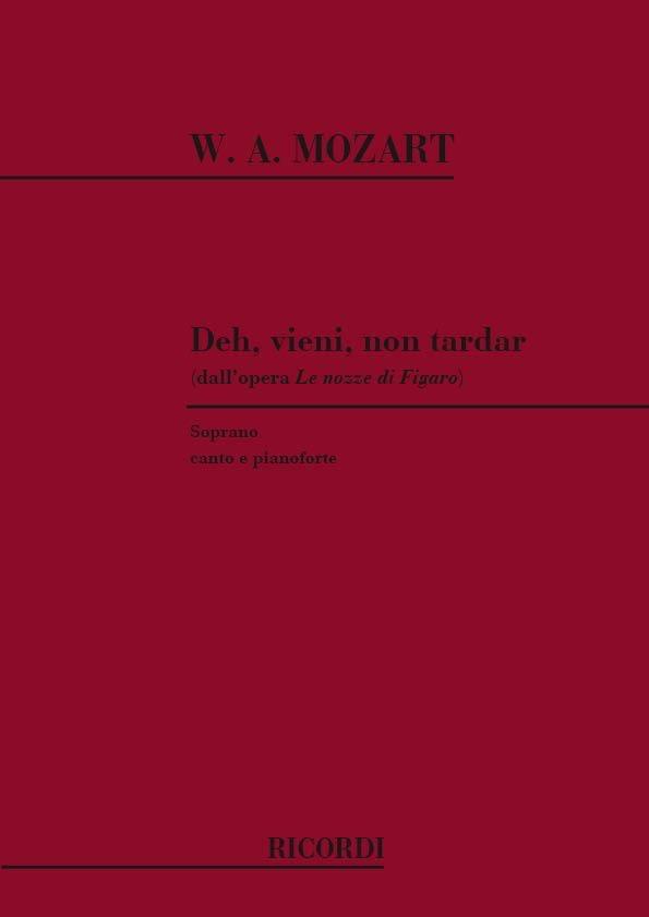 MOZART - Deh Vieni No Tardar. Nozze Di Figaro - Partition - di-arezzo.co.uk