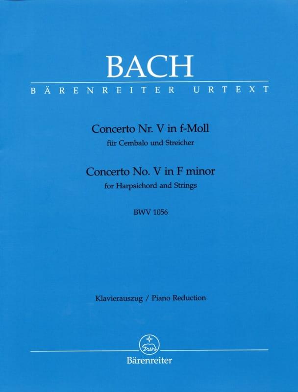 BACH - FW Minor Keyboard Concerto BWV 1056 - Partition - di-arezzo.co.uk