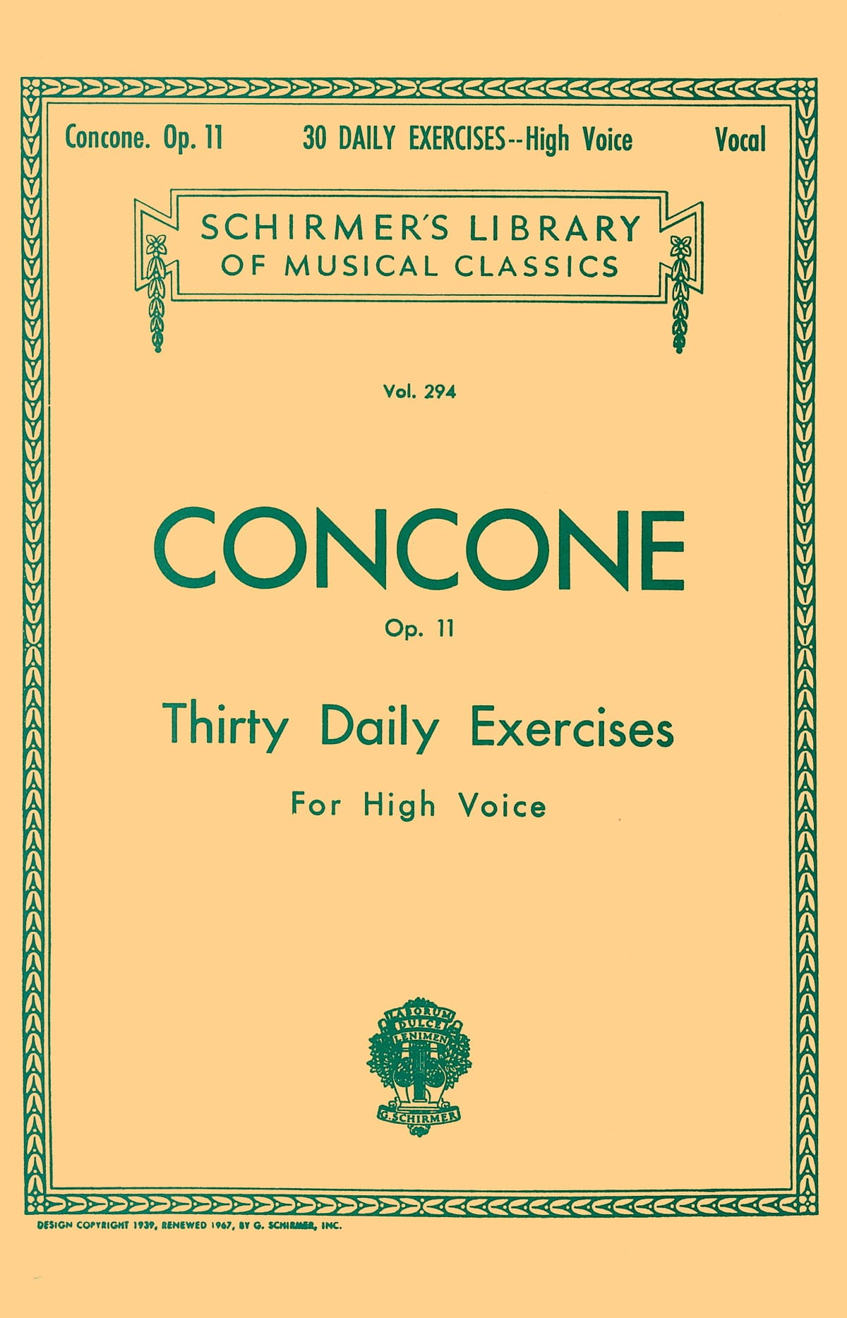 Giuseppe Concone - 30 Daily Exercises Opus 11. High Voice - Partition - di-arezzo.co.uk