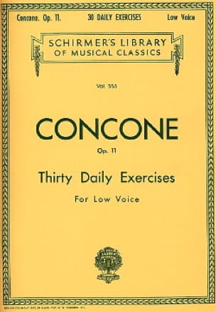 Giuseppe Concone - 30 Daily Exercises Opus 11 Vx Serious - Partition - di-arezzo.co.uk