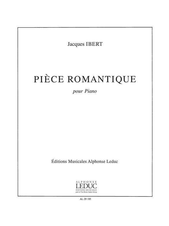 Jacques Ibert - Pièce Romantique - Partition - di-arezzo.fr
