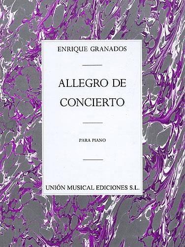Enrique Granados - Allegro De Concierto opus 46 - Partition - di-arezzo.co.uk