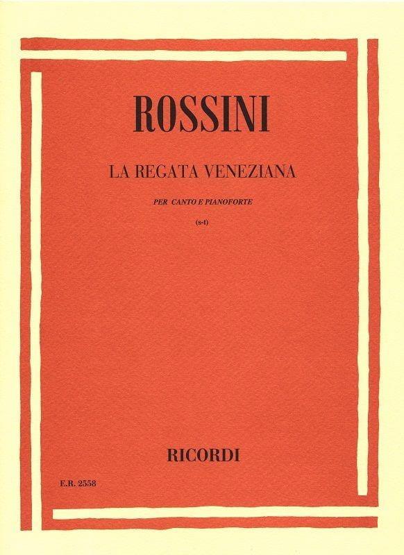 La Regata Veneziana - ROSSINI - Partition - laflutedepan.com