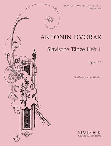 DVORAK - Slaves Dances Opus 72 Volume 1. 4 hands - Partition - di-arezzo.co.uk
