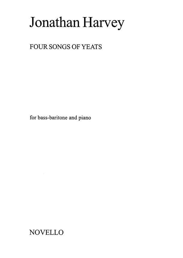 4 Songs Of Yeats - Jonathan Harvey - Partition - laflutedepan.com