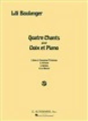 4 Chants - Lili Boulanger - Partition - Mélodies - laflutedepan.com