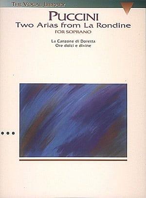 Giacomo Puccini - The Rondine: 2 Arias From the Rondine - Partition - di-arezzo.com