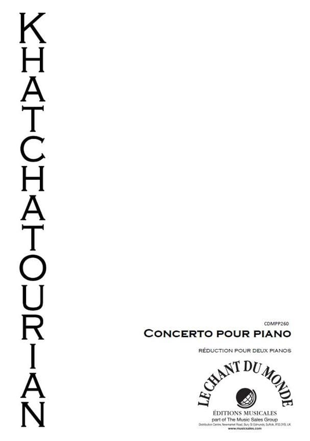 Aram Khatchaturian - Concerto In D Flat Major - Partition - di-arezzo.co.uk