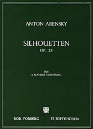 Anton Arensky - Silhouettes Opus 23. 2 Pianos - Partition - di-arezzo.co.uk