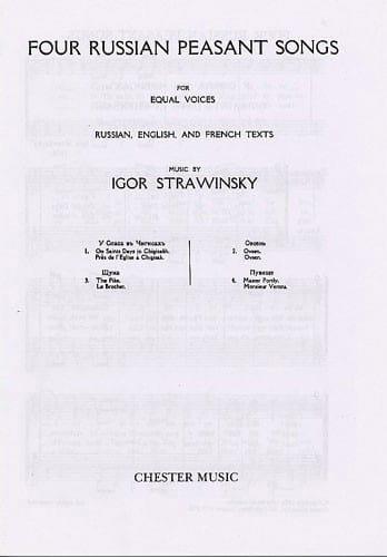 4 Russian Peasant Songs. Version A Cappella 1916 - laflutedepan.com