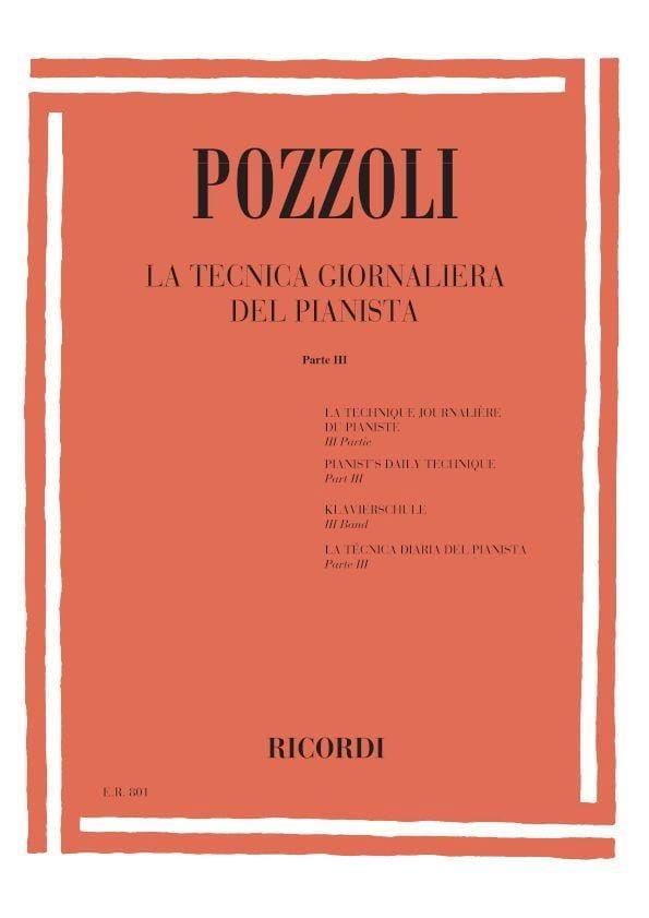 La Tecnica Giornaliera Del Pianista Volume 3 - laflutedepan.com