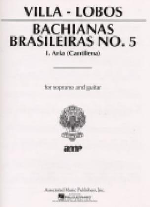 Bachianas Brasileiras N° 5-1 - VILLA-LOBOS - laflutedepan.com