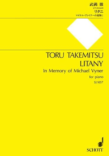 Toru Takemitsu - Litany - Partition - di-arezzo.fr