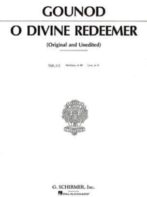 Charles Gounod - O Divine Redeemer. Aloud - Partition - di-arezzo.co.uk