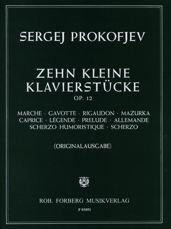 Sergei Prokofiev - 10 Petites Pièces Opus 12 - Partition - di-arezzo.ch