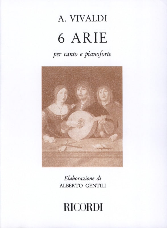 VIVALDI - 6 Arie - Partition - di-arezzo.co.uk