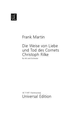 Die Weise Von Liebe Und Tod des Cornets Christoph Rilke - laflutedepan.com