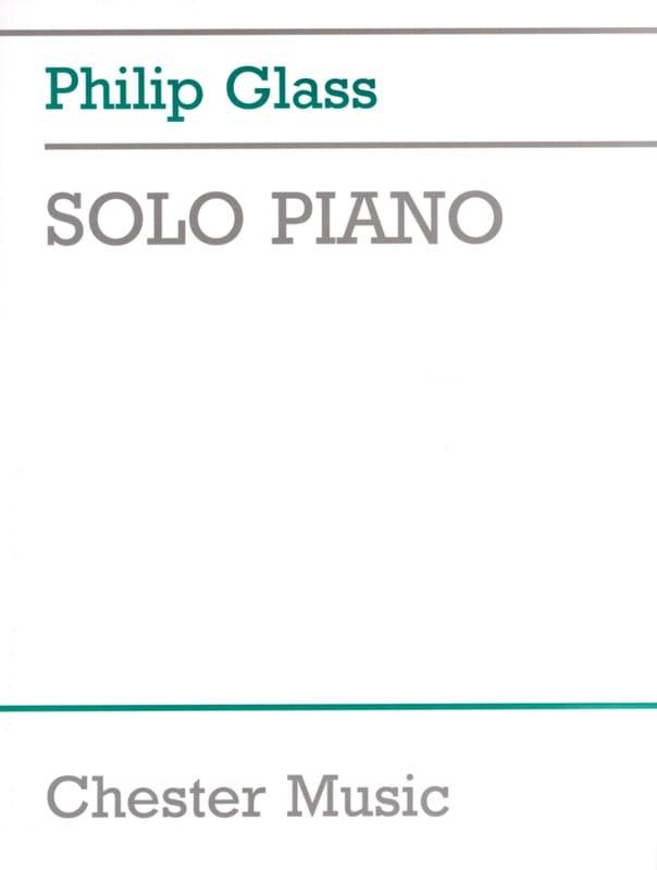 Philipp Glass - Solo Piano - Partition - di-arezzo.co.uk
