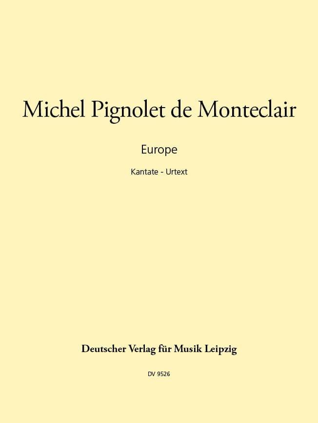 Europe - Michel Pignolet de Montéclair - Partition - laflutedepan.com