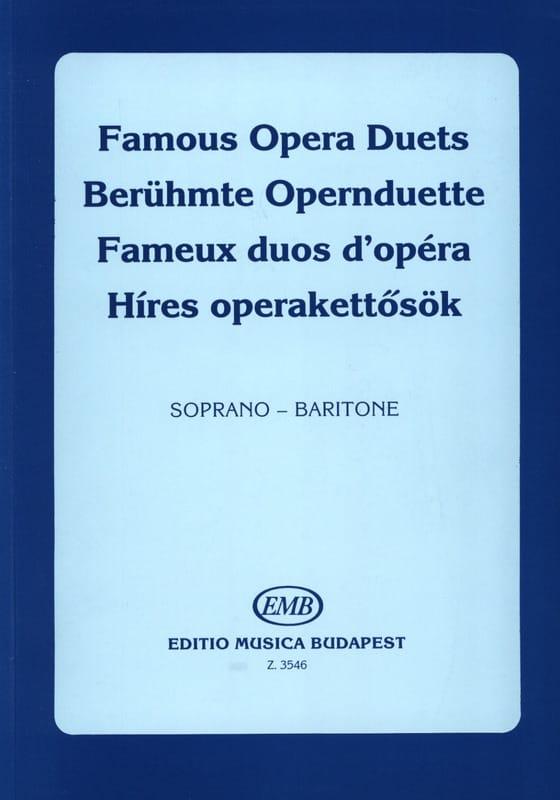 - Célèbres Duos D'opéra. Soprano-Baryton - Partition - di-arezzo.fr