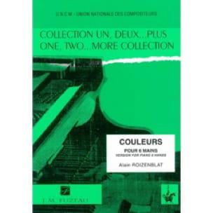 Couleurs. 6 Mains - Alain Roizenblat - Partition - laflutedepan.com