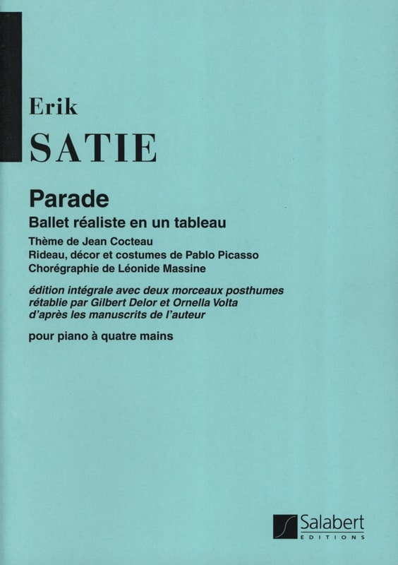 Parade. 4 Mains - SATIE - Partition - Piano - laflutedepan.com