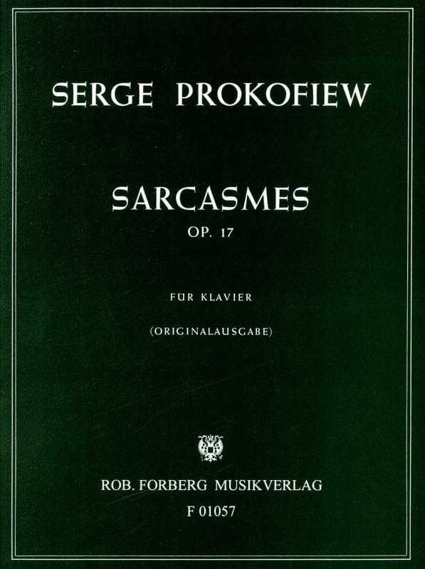 Sergei Prokofiev - Sarcasm Opus 17 - Partition - di-arezzo.co.uk