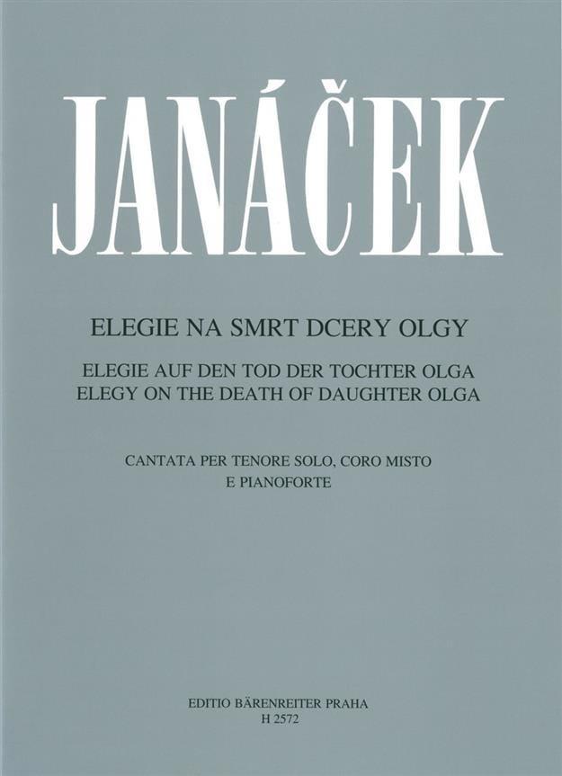Leos Janacek - Elégie sur la Mort de sa Fille Olga. - Partition - di-arezzo.fr