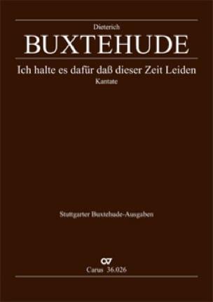 Dietrich Buxtehude - Ich Halte Es Dafür Das Dieser Zeit Leiden Buxwv 48 - Partition - di-arezzo.com