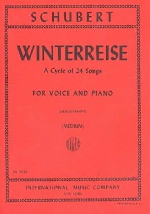 Winterreise Opus 89. Voix Moyenne - SCHUBERT - laflutedepan.com