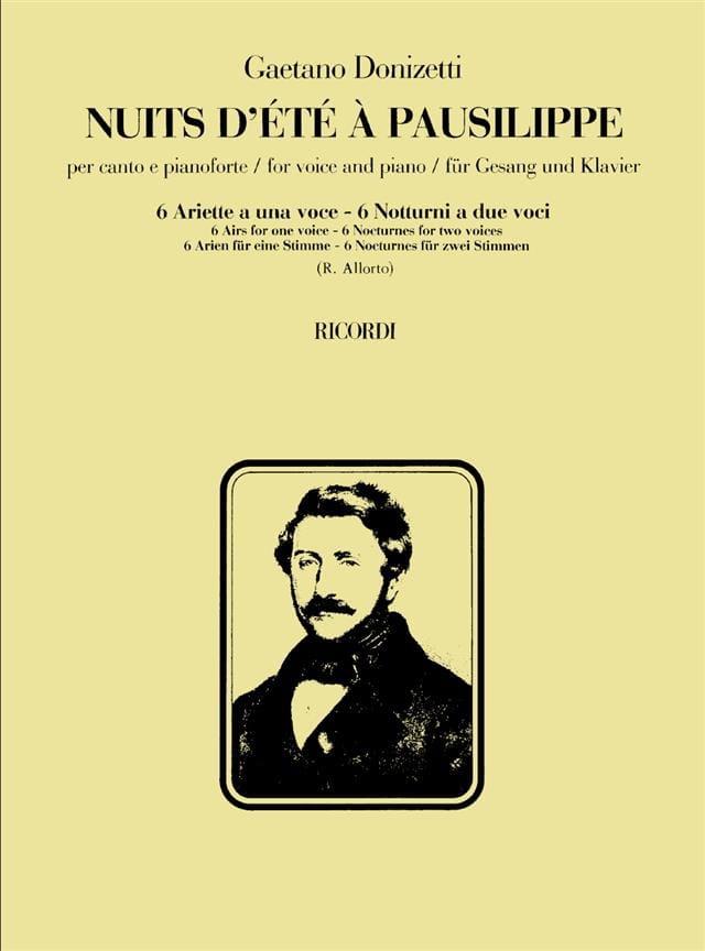 Gaetano Donizetti - Noches de verano en Pausilippe - Partition - di-arezzo.es