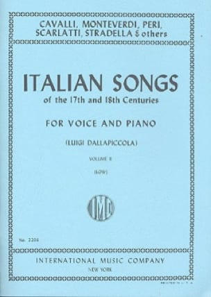 Italian Songs 17 Th And 18th Centuries Voix Grave Volume 2 - laflutedepan.com