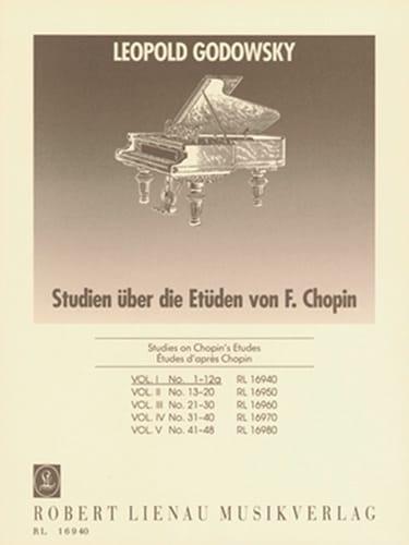 Etudes D'aprés Chopin Volume 1 - GODOWSKY - laflutedepan.com