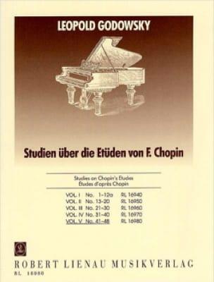 Etudes D'après Chopin Volume 5 - GODOWSKY - laflutedepan.com