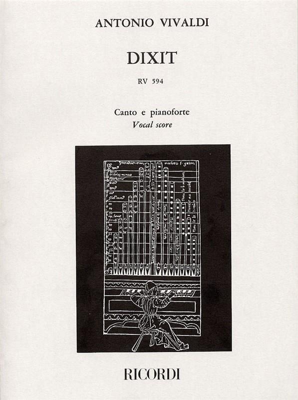 Dixit Dominus - VIVALDI - Partition - Chœur - laflutedepan.com