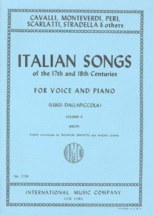 Italian Songs 17th And 18th Centuries Voix Haute Volume 2 - laflutedepan.com