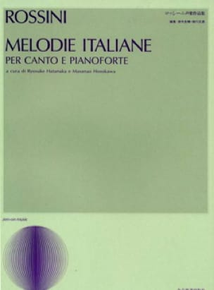 Gioachino Rossini - Melodías italianas - Partition - di-arezzo.es
