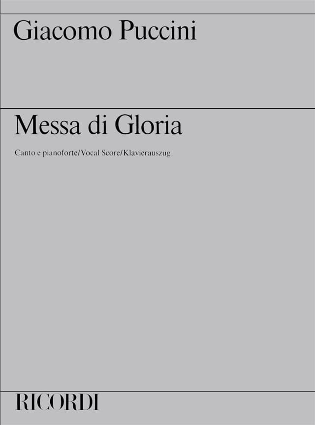 Giacomo Puccini - Missa Di Gloria - Mass of the Gloria - Partition - di-arezzo.com