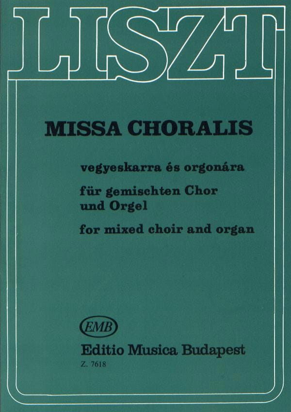 Franz Liszt - Missa Choralis. - Partition - di-arezzo.fr
