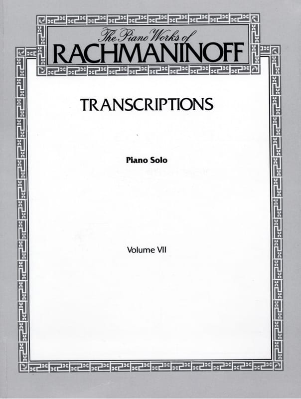 RACHMANINOV - Transcriptions - Partition - di-arezzo.fr