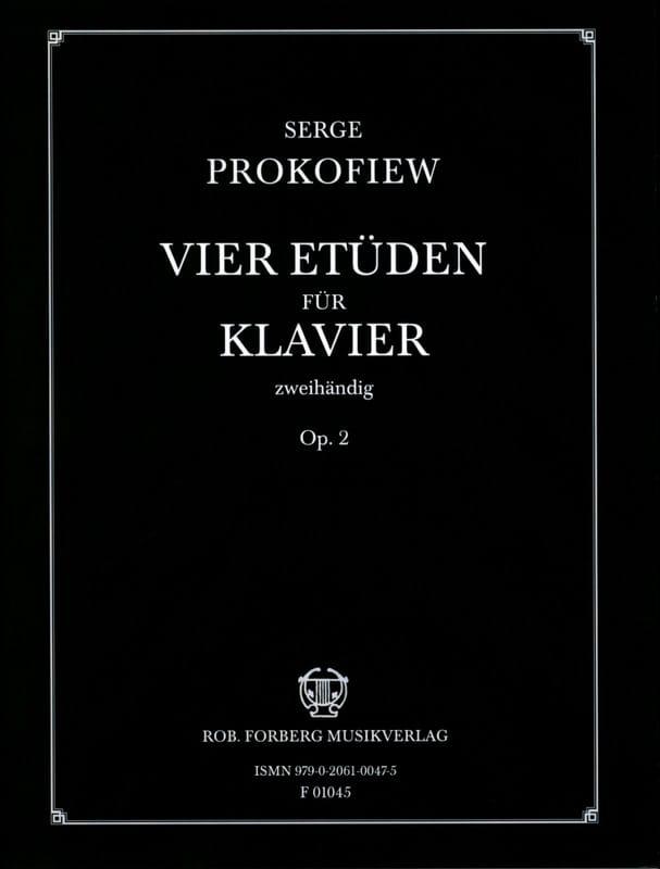 4 Etudes Opus 2 - PROKOFIEV - Partition - Piano - laflutedepan.com
