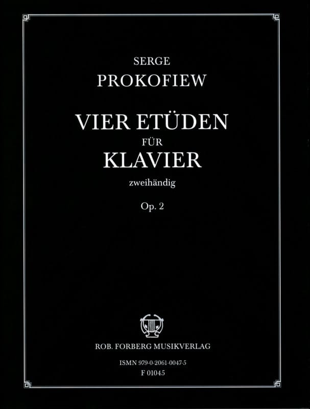 Sergei Prokofiev - 4 Opus 2 studies - Partition - di-arezzo.co.uk