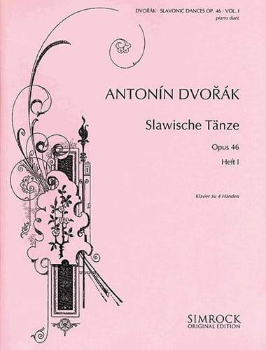 Danses Slaves Opus 46 Volume 1. 4 mains - DVORAK - laflutedepan.com