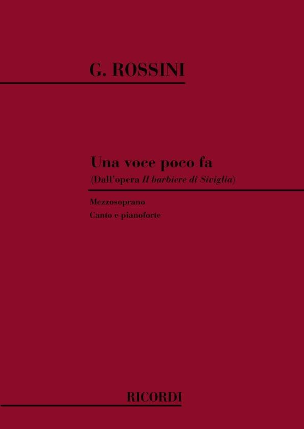 Gioachino Rossini - Una Voce Poco Fa. The Barbiere Di Siviglia - Partition - di-arezzo.co.uk