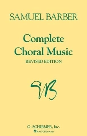 Samuel Barber - Complete Choral Music - Partition - di-arezzo.fr