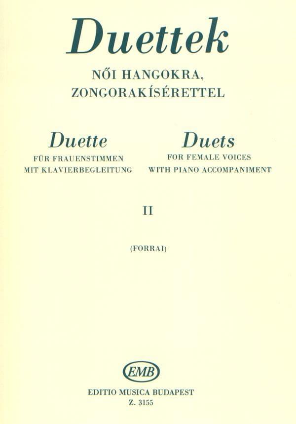 - Duos Pour Voix De Femmes Volume 2 - Partition - di-arezzo.fr