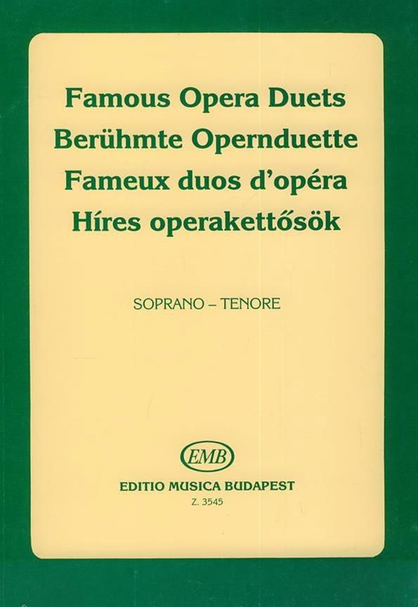- Célèbres Duos D'opéra. Soprano-Ténor - Partition - di-arezzo.fr