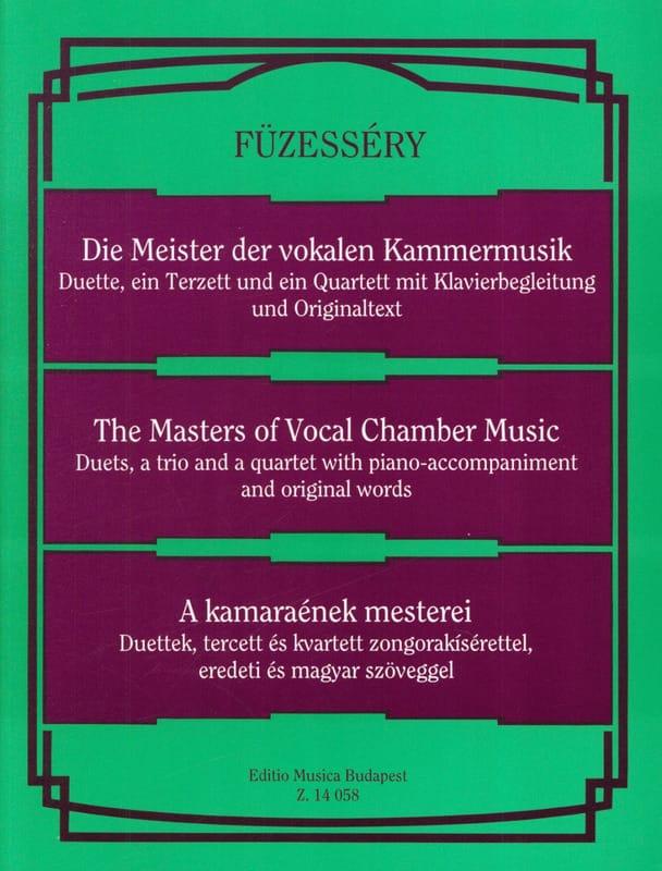 - Les Maîtres de la Musique de Chambre Vocale. - Partition - di-arezzo.fr