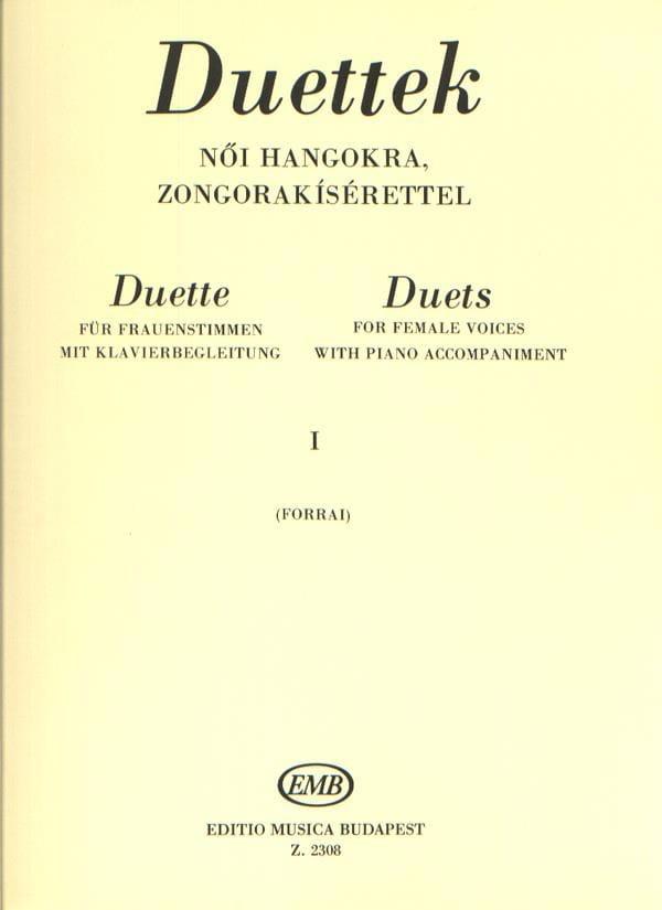 Duos Pour Voix de Femmes Volume 1 - Partition - laflutedepan.com